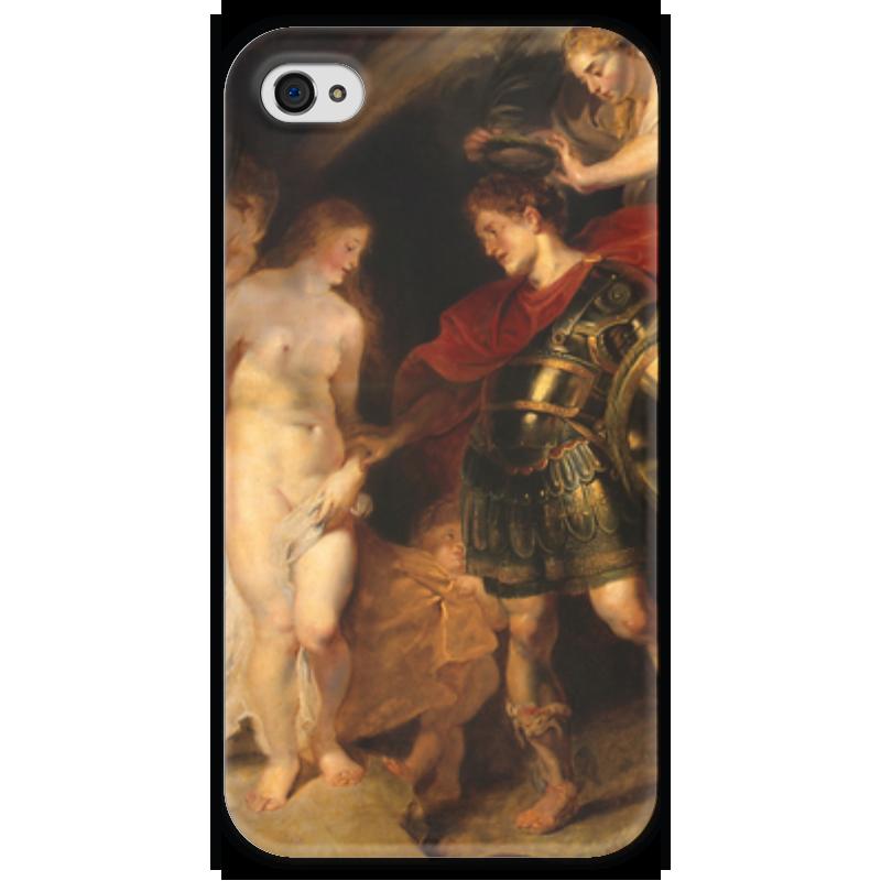 Чехол для iPhone 4 глянцевый, с полной запечаткой Printio Персей и андромеда (рубенс) экран для ванны triton персей торцевой