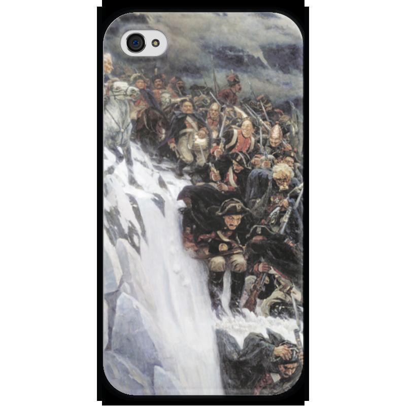 Чехол для iPhone 4 глянцевый, с полной запечаткой Printio Переход суворова через альпы (в. и. суриков) рюкзак с полной запечаткой printio переход суворова через альпы в и суриков