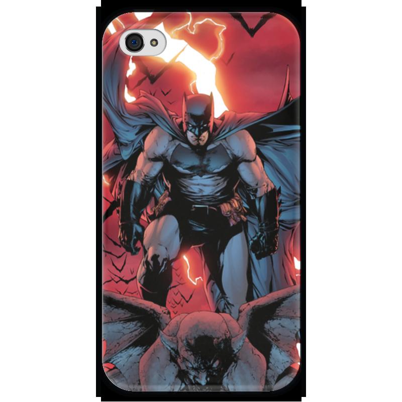 Чехол для iPhone 4 глянцевый, с полной запечаткой Printio Бэтмен чехол для iphone 4 глянцевый с полной запечаткой printio челси