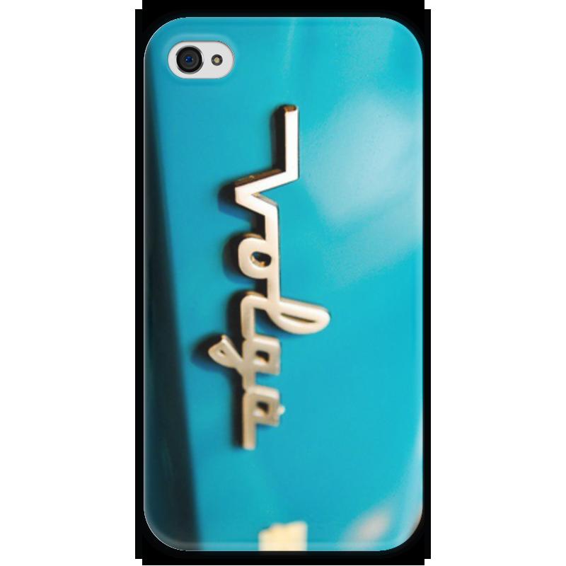 Чехол для iPhone 4 глянцевый, с полной запечаткой Printio Волга