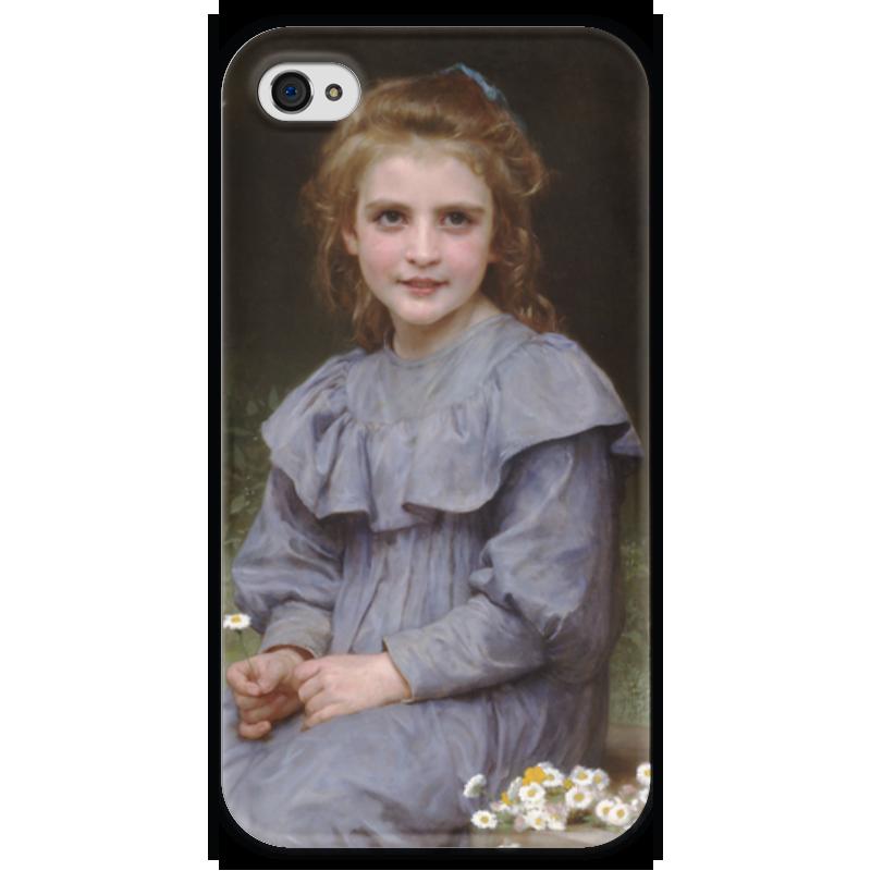 Чехол для iPhone 4 глянцевый, с полной запечаткой Printio Маргаритки (pâquerettes) чехол для iphone 4 глянцевый с полной запечаткой printio эфиопка