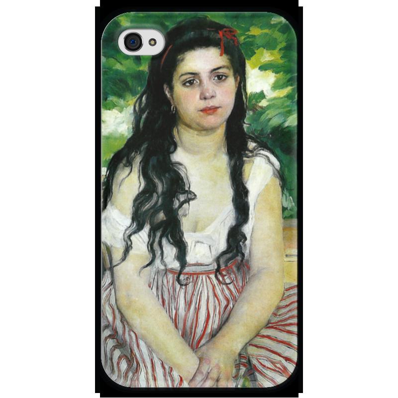 Чехол для iPhone 4 глянцевый, с полной запечаткой Printio Летом. цыганка (пьер огюст ренуар) чехол для iphone 6 глянцевый printio бал в мулен де ла галетт ренуар