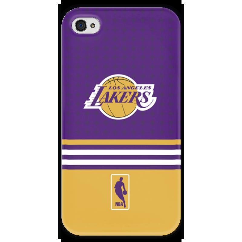 Чехол для iPhone 4 глянцевый, с полной запечаткой Printio Lakers case pro баскетбольную форму lakers