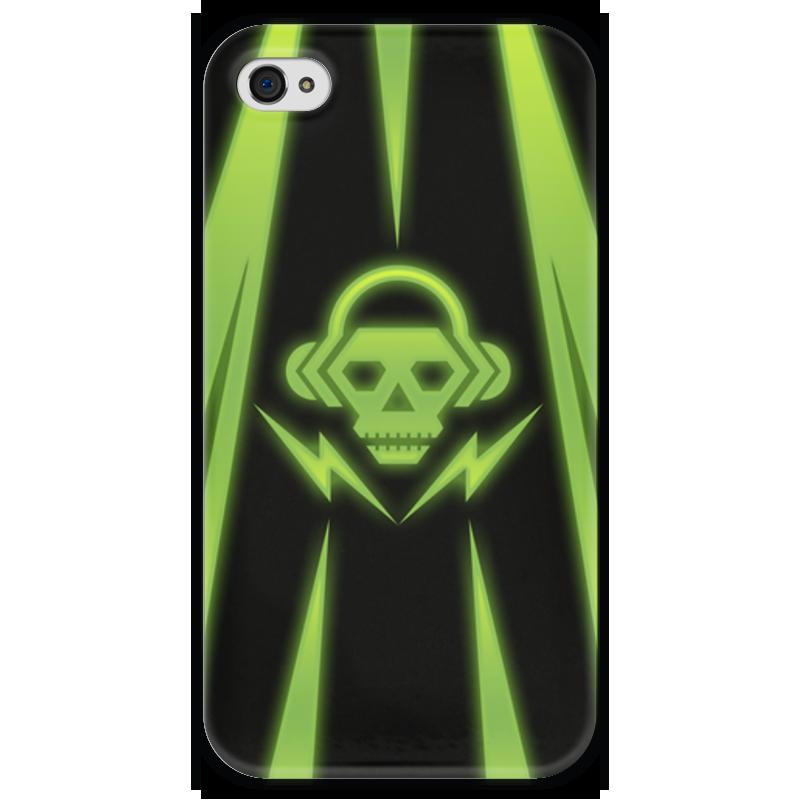 Чехол для iPhone 4 глянцевый, с полной запечаткой Printio Skull чехол для iphone 4 глянцевый с полной запечаткой printio эфиопка