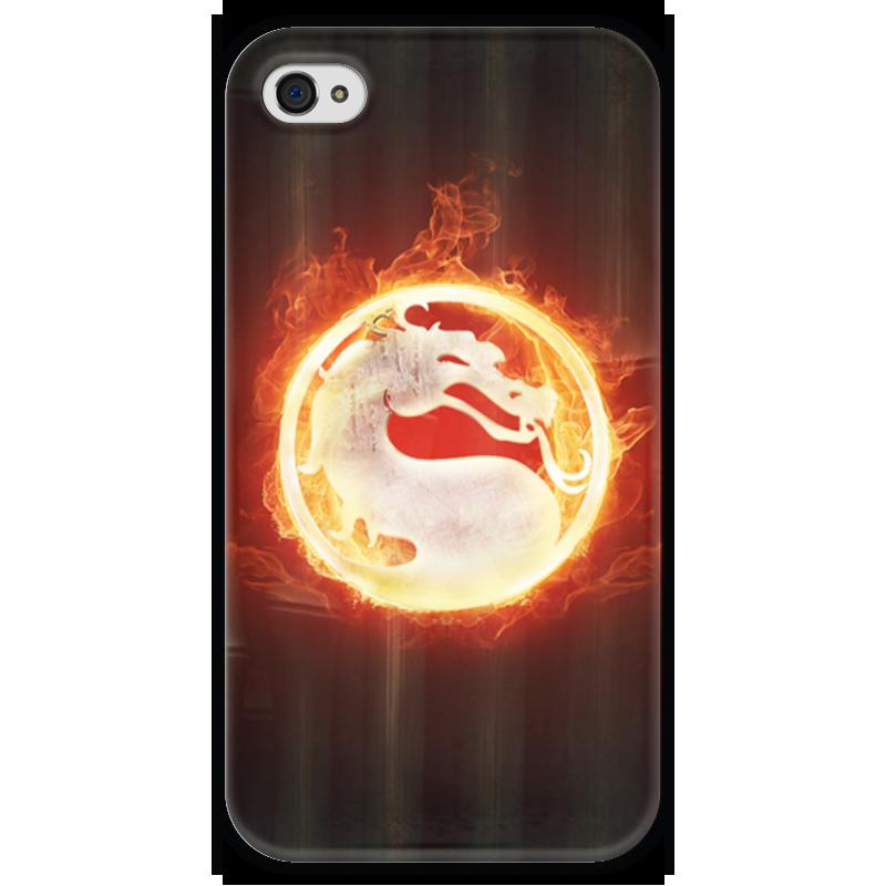 Чехол для iPhone 4 глянцевый, с полной запечаткой Printio Mortal kombat
