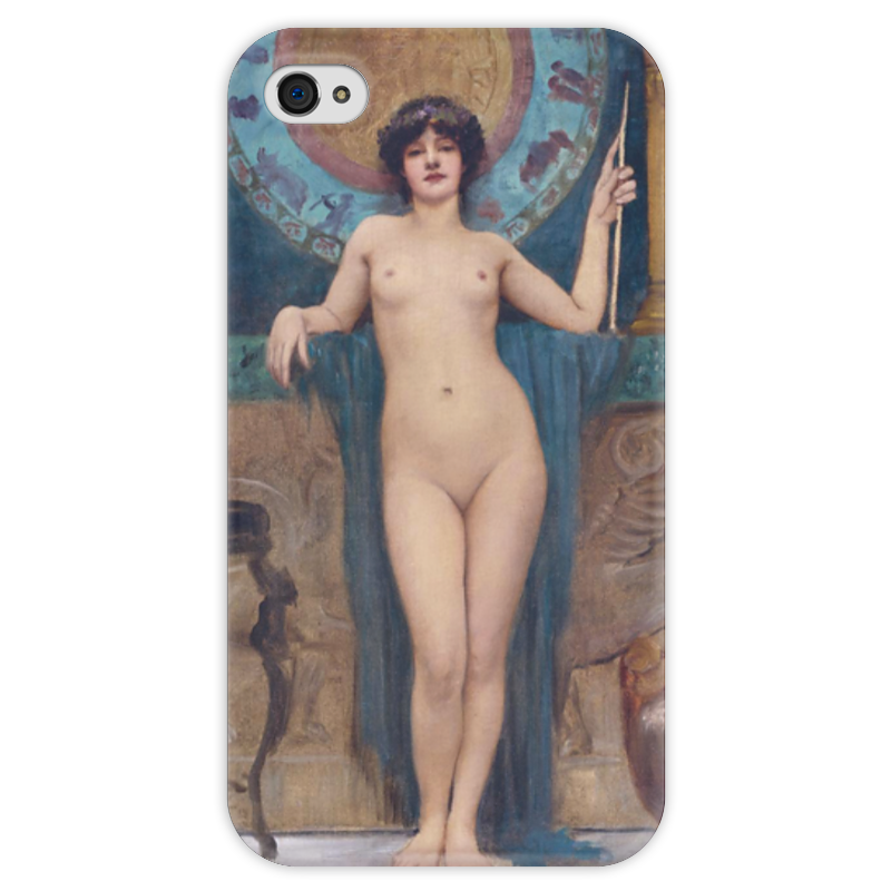 Чехол для iPhone 4 глянцевый, с полной запечаткой Printio Кампаспа (джон уильям годвард)