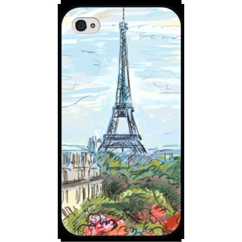 Чехол для iPhone 4 глянцевый, с полной запечаткой Printio Эйфелева башня чехол для iphone 4 глянцевый с полной запечаткой printio эфиопка