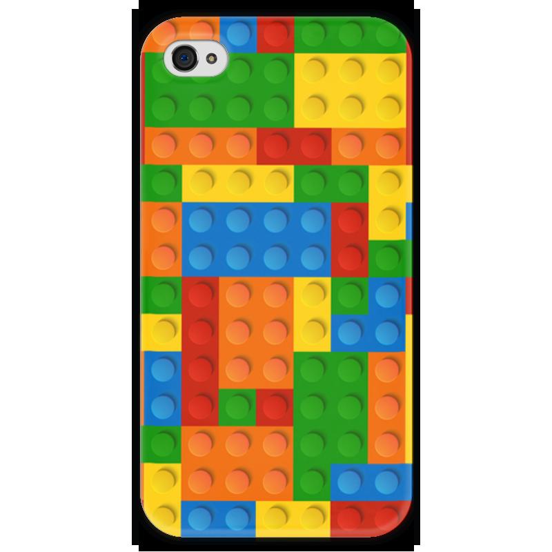 Чехол для iPhone 4 глянцевый, с полной запечаткой Printio Конструктор лего детское лего gudi