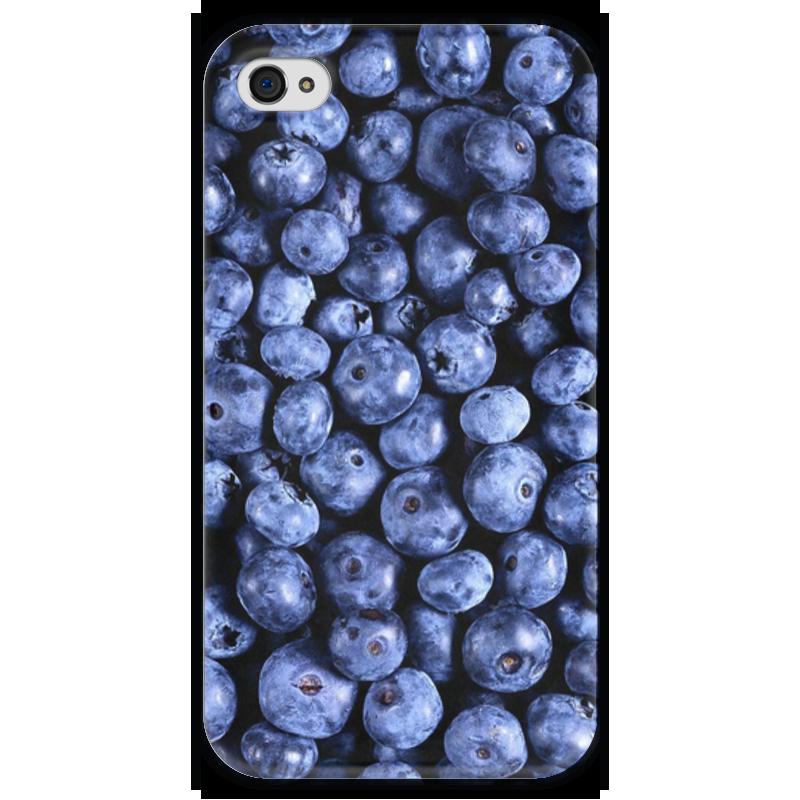 Чехол для iPhone 4 глянцевый, с полной запечаткой Printio Черника тема биотворог черника 4 2