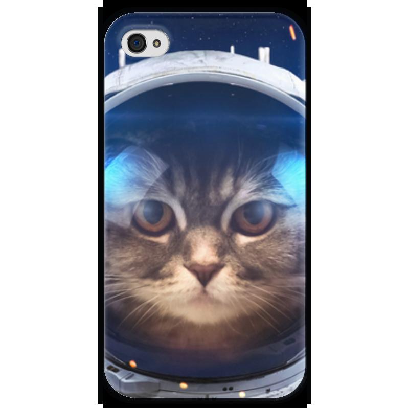 Чехол для iPhone 4 глянцевый, с полной запечаткой Printio Котосмонавт чехол для iphone 4 глянцевый с полной запечаткой printio челси