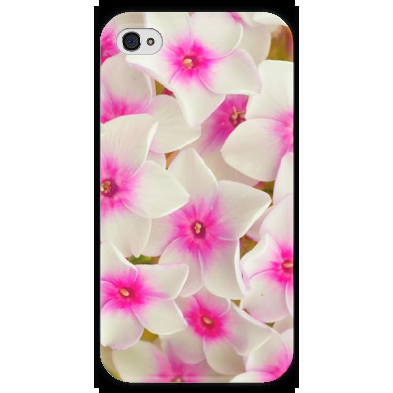 Чехол для iPhone 4 глянцевый, с полной запечаткой Printio Цветы чехол для iphone 4 глянцевый с полной запечаткой printio фруктовый сад в цвету