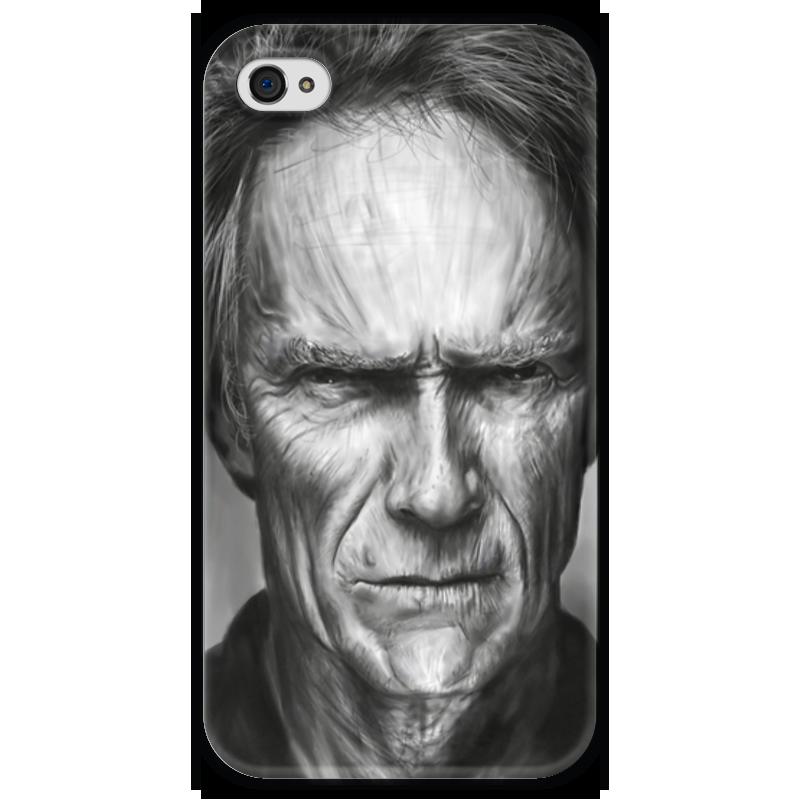 Чехол для iPhone 4 глянцевый, с полной запечаткой Printio Клинт иствуд / clint eastwood чехол для iphone 4 глянцевый с полной запечаткой printio эфиопка