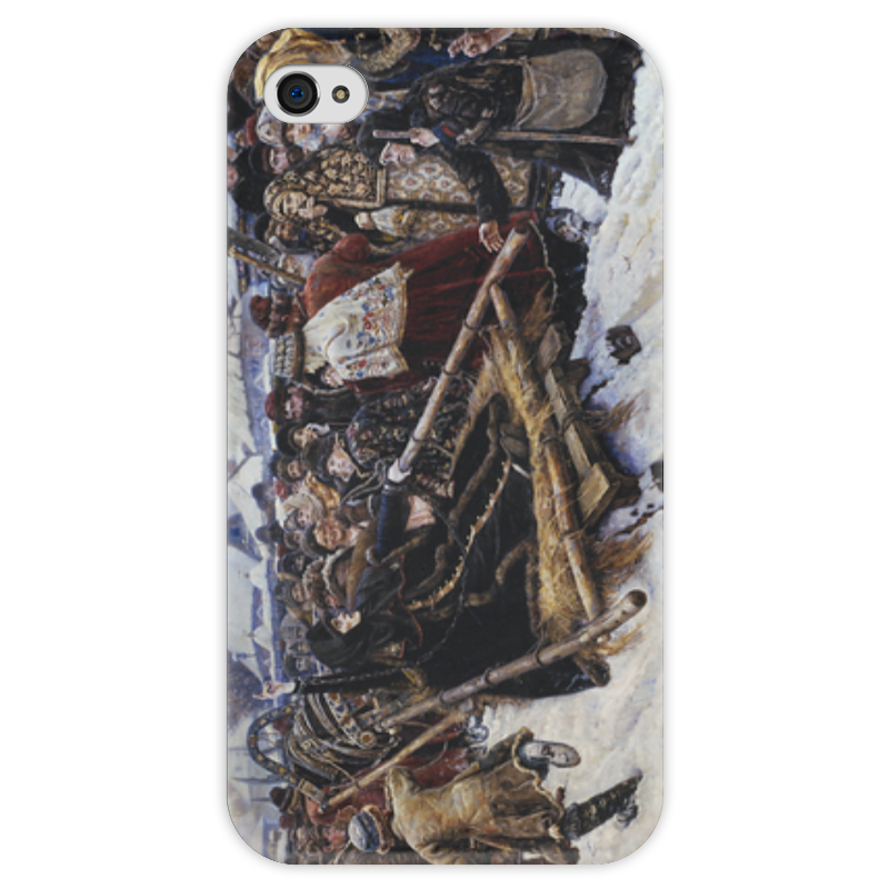Чехол для iPhone 4 глянцевый, с полной запечаткой Printio Боярыня морозова (картина в. и. сурикова) шапка унисекс с полной запечаткой printio боярыня морозова василий суриков