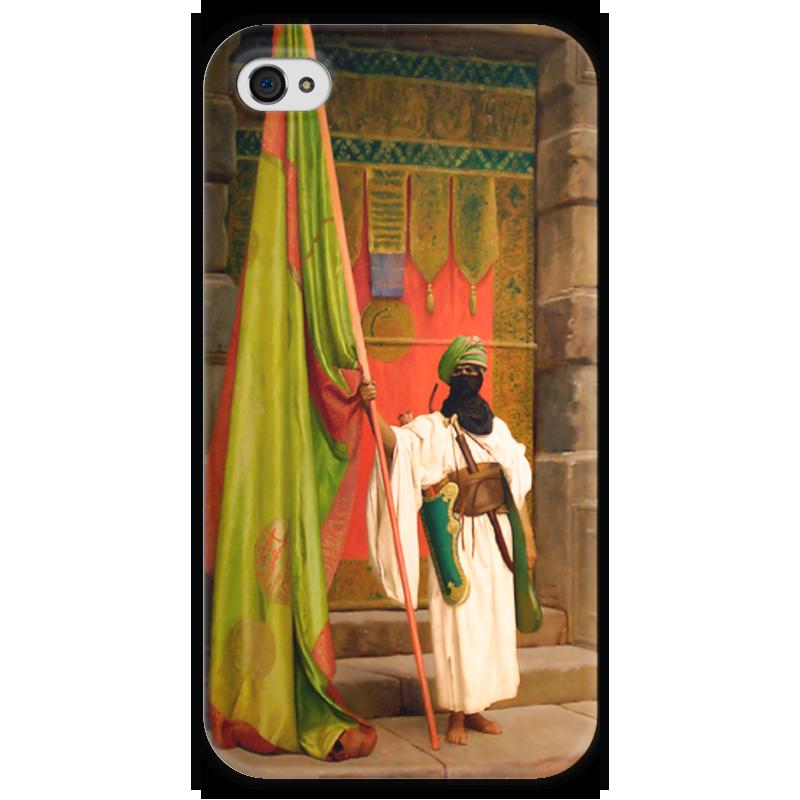 Чехол для iPhone 4 глянцевый, с полной запечаткой Printio Флаг пророка (жан-леон жером) чехол для iphone 5 глянцевый с полной запечаткой printio последняя молитва христианских мучеников жером