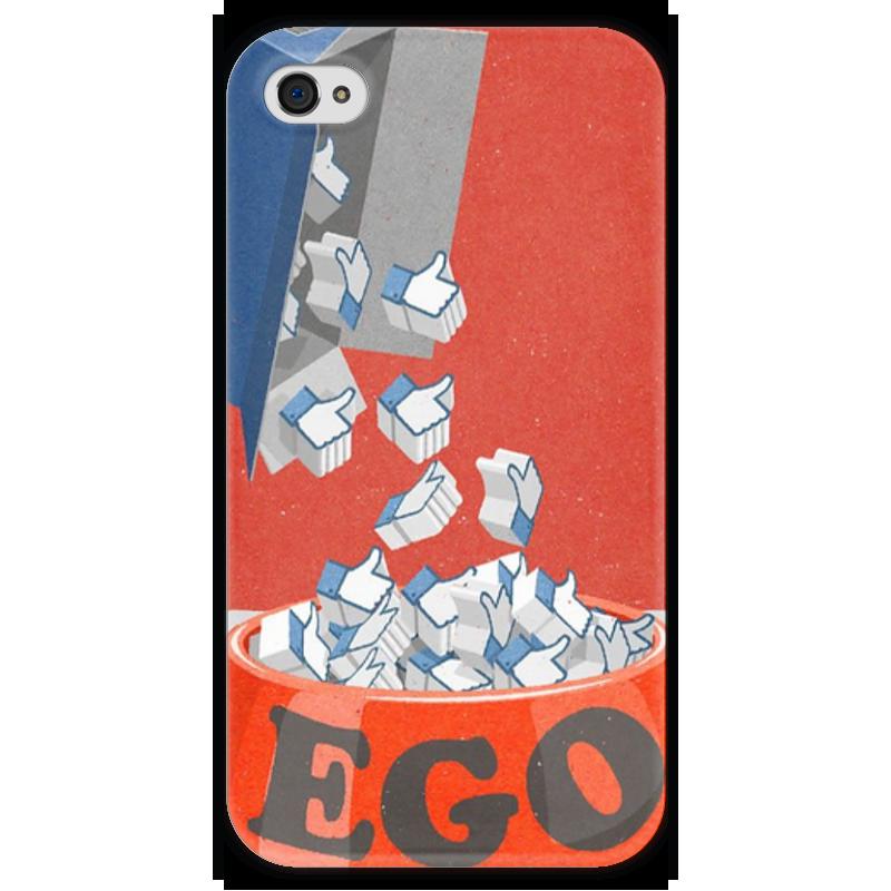 Чехол для iPhone 4 глянцевый, с полной запечаткой Printio Лайки лайки щенка белая церковъ