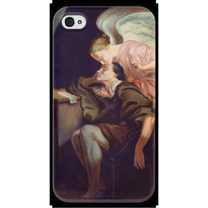 Чехол для iPhone 4 глянцевый, с полной запечаткой Printio Поцелуй музы музы вдохновившие мир прозрачный супер
