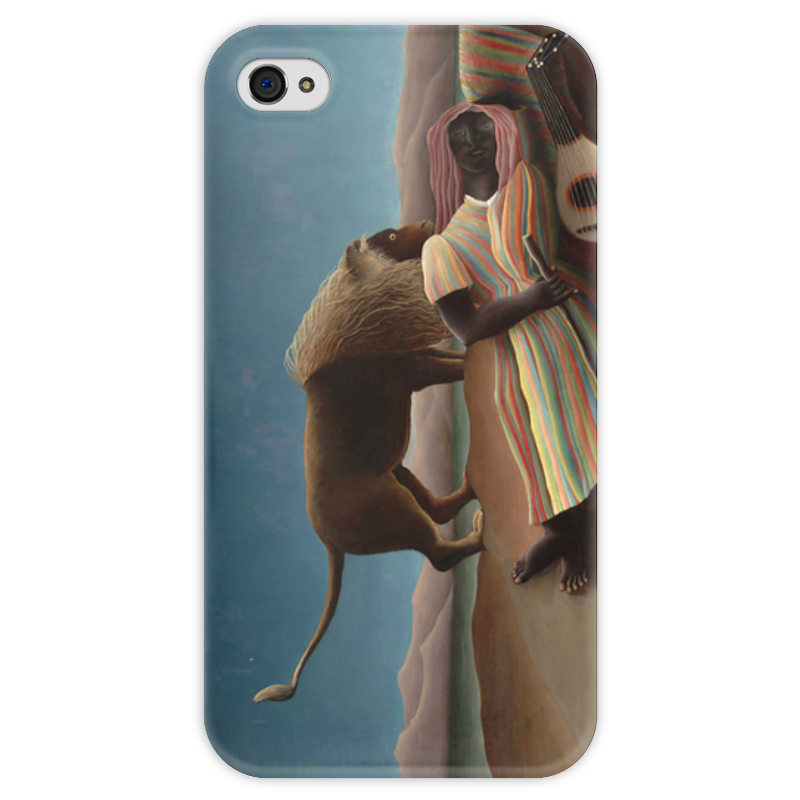 Чехол для iPhone 4 глянцевый, с полной запечаткой Printio Спящая цыганка чехол для iphone 6 глянцевый printio спящая красавица сказка
