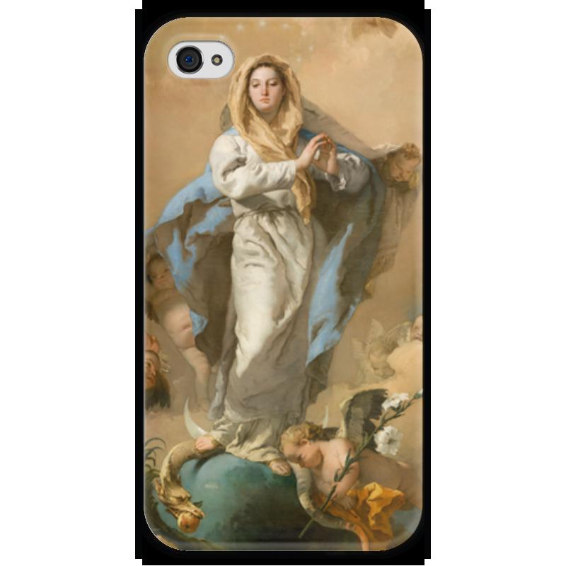 Чехол для iPhone 4 глянцевый, с полной запечаткой Printio Непорочное зачатие девы марии магическая сила девы марии 44 карты инструкция