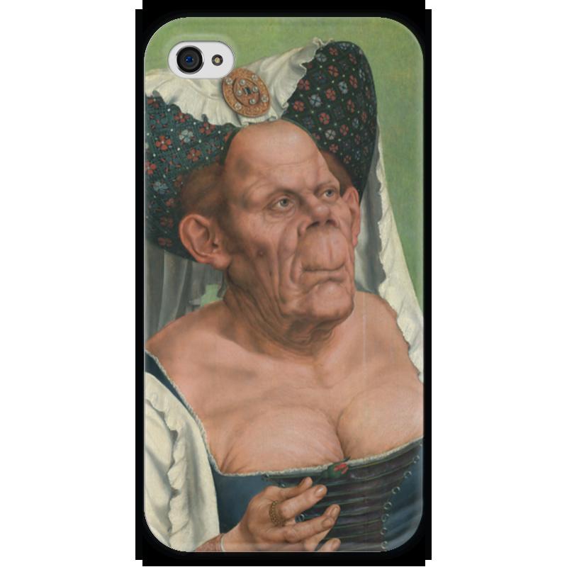 Чехол для iPhone 4 глянцевый, с полной запечаткой Printio Уродливая герцогиня маккейб а пугливая герцогиня роман