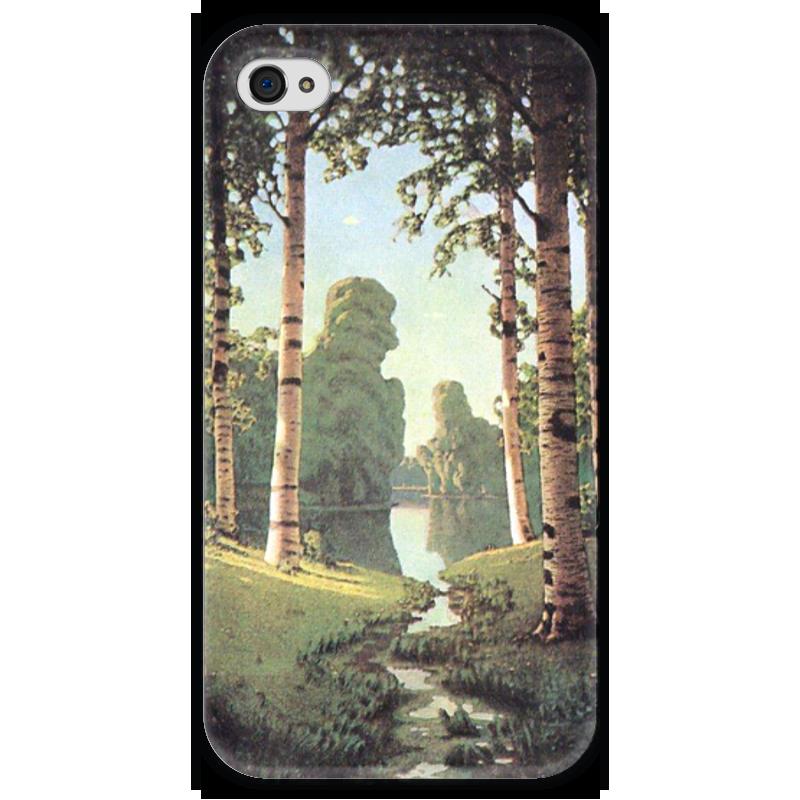 Чехол для iPhone 4 глянцевый, с полной запечаткой Printio Берёзовая роща (картина архипа куинджи) чехол для blackberry z10 printio север картина архипа куинджи