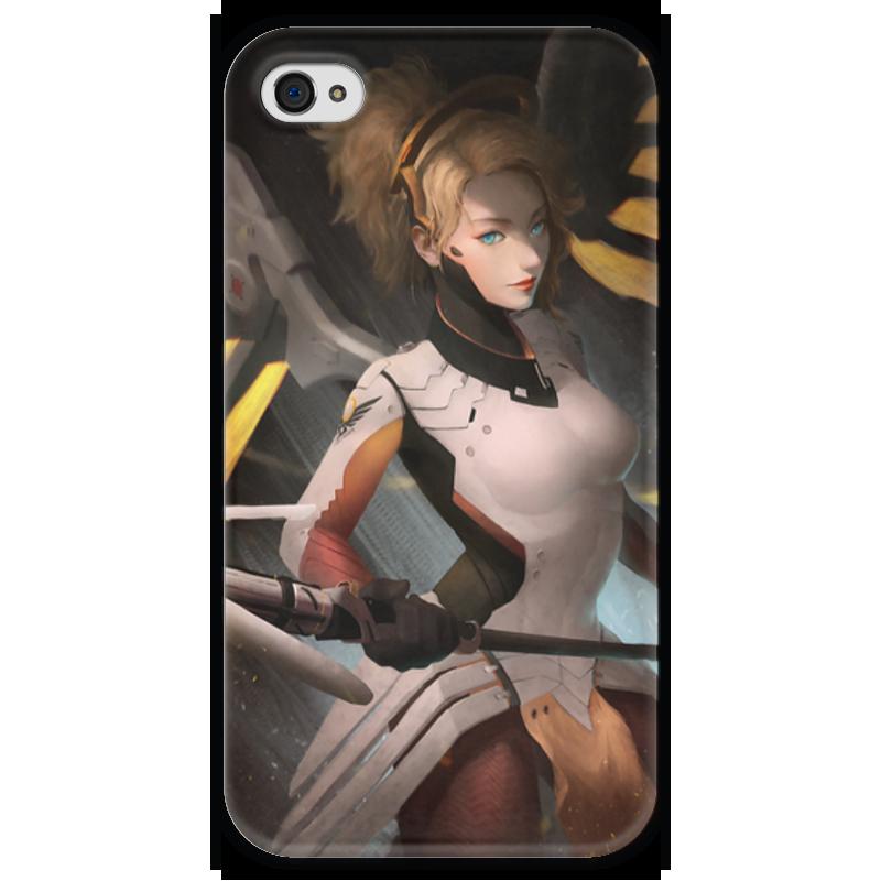 Чехол для iPhone 4 глянцевый, с полной запечаткой Printio Mercy чехол для iphone 4 глянцевый с полной запечаткой printio челси