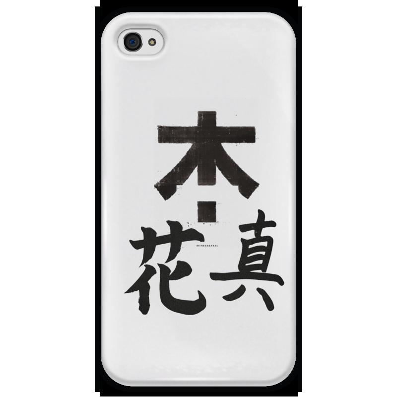 Чехол для iPhone 4 глянцевый, с полной запечаткой Printio Япония. минимализм чехол для iphone 4 глянцевый с полной запечаткой printio эфиопка