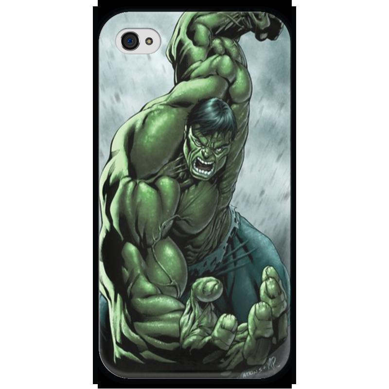 Чехол для iPhone 4 глянцевый, с полной запечаткой Printio The incredible hulk