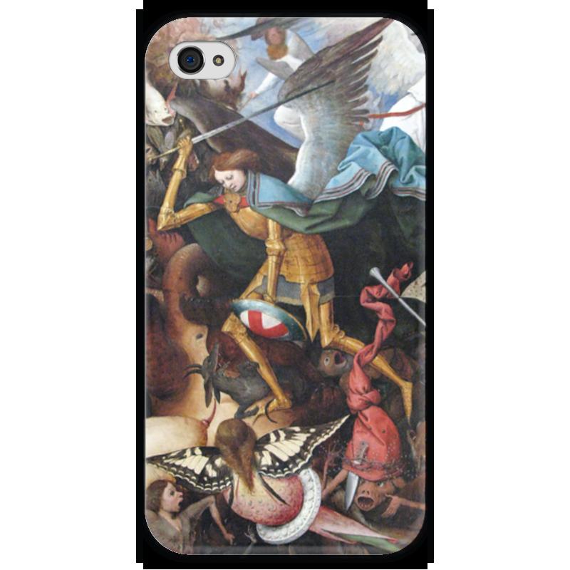 Чехол для iPhone 4 глянцевый, с полной запечаткой Printio Архангел михаил