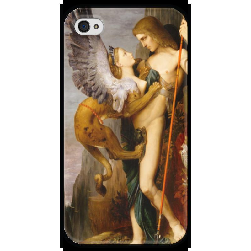 Чехол для iPhone 4 глянцевый, с полной запечаткой Printio Эдип и сфинкс (гюстав моро)