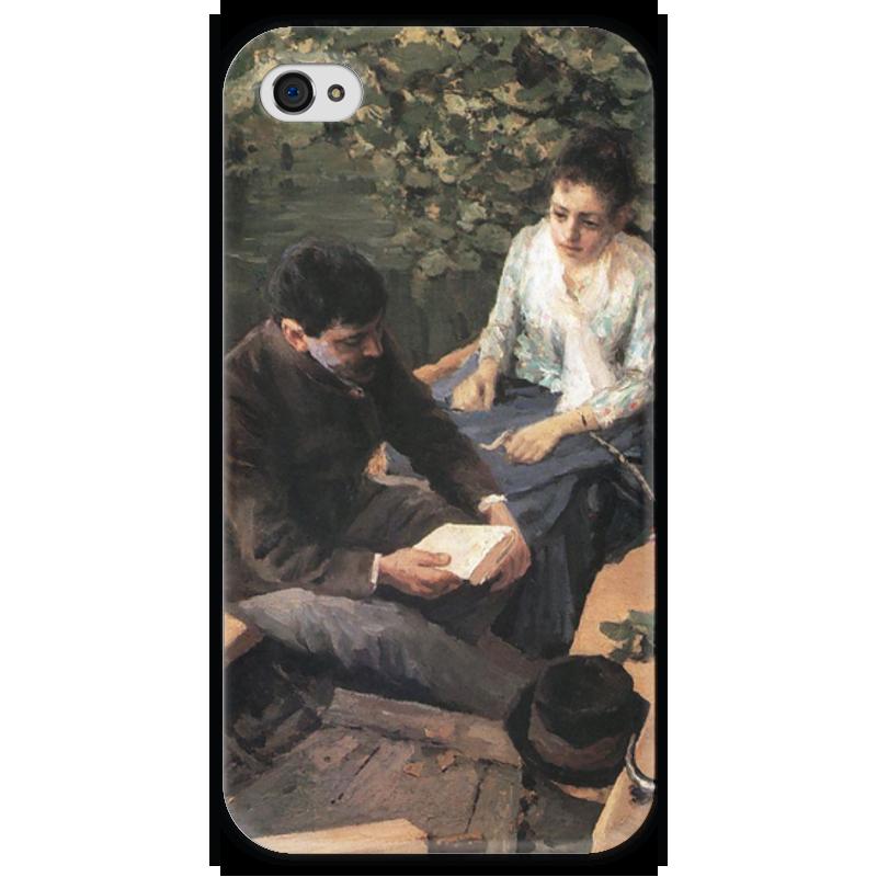 Чехол для iPhone 4 глянцевый, с полной запечаткой Printio В лодке (картина коровина)