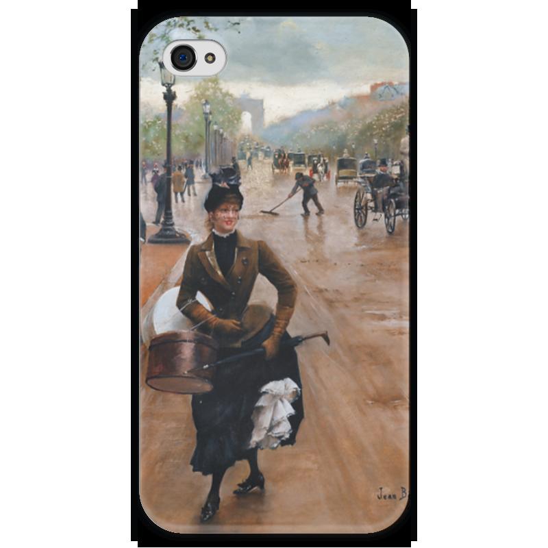 Чехол для iPhone 4 глянцевый, с полной запечаткой Printio Модистка на елисейских полях (жан беро) футболка с полной запечаткой printio жан рено леон