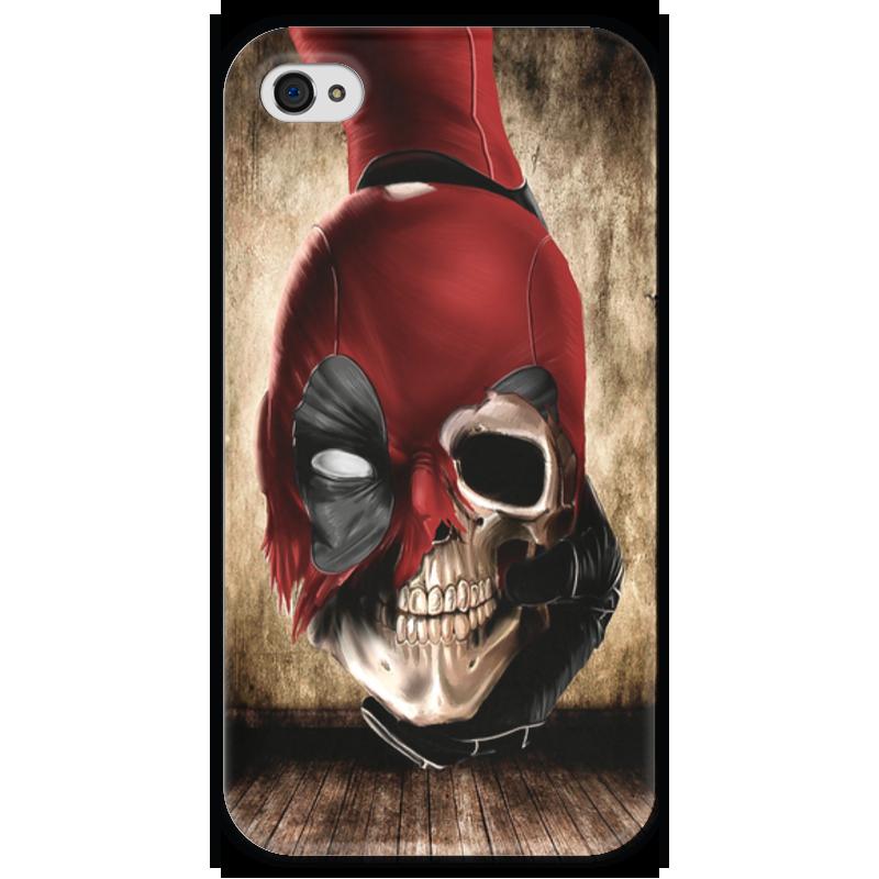 Чехол для iPhone 4 глянцевый, с полной запечаткой Printio Deadpool чехол для iphone 4 глянцевый с полной запечаткой printio иллидан