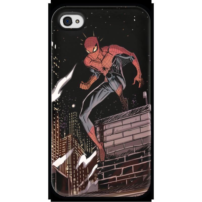 Чехол для iPhone 4 глянцевый, с полной запечаткой Printio Человек-паук (spider-man) паук 4 1 на ниву