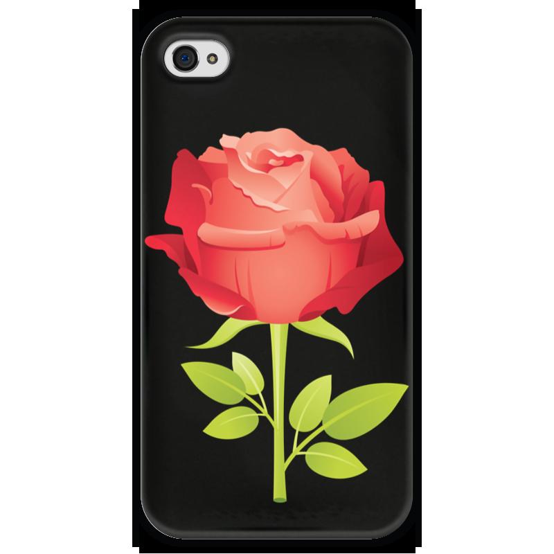 Чехол для iPhone 4 глянцевый, с полной запечаткой Printio Розочка чехол для iphone 4 глянцевый с полной запечаткой printio челси