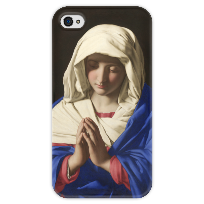 Чехол для iPhone 4 глянцевый, с полной запечаткой Printio Дева мария чехол для iphone 4 глянцевый с полной запечаткой printio эфиопка