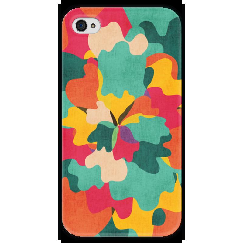 Чехол для iPhone 4 глянцевый, с полной запечаткой Printio Цветочный камуфляж чехол для iphone 6 глянцевый printio цветочный
