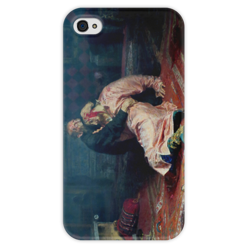 Чехол для iPhone 4 глянцевый, с полной запечаткой Printio Иван грозный убивает своего сына (илья репин) иван комлев ковыль
