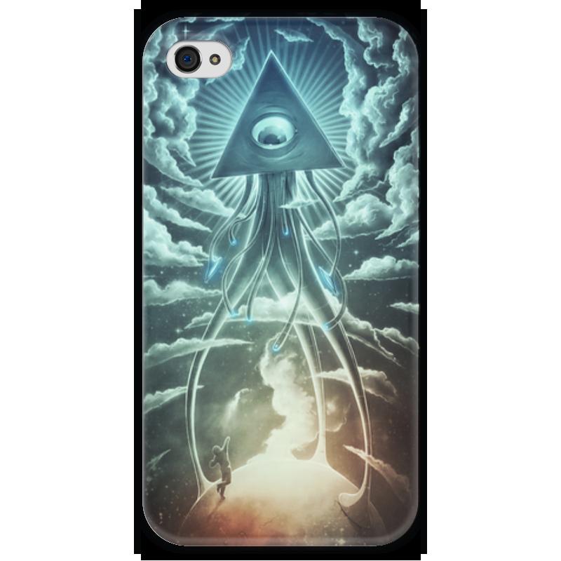 Чехол для iPhone 4 глянцевый, с полной запечаткой Printio Война миров футболка с полной запечаткой printio война миров z