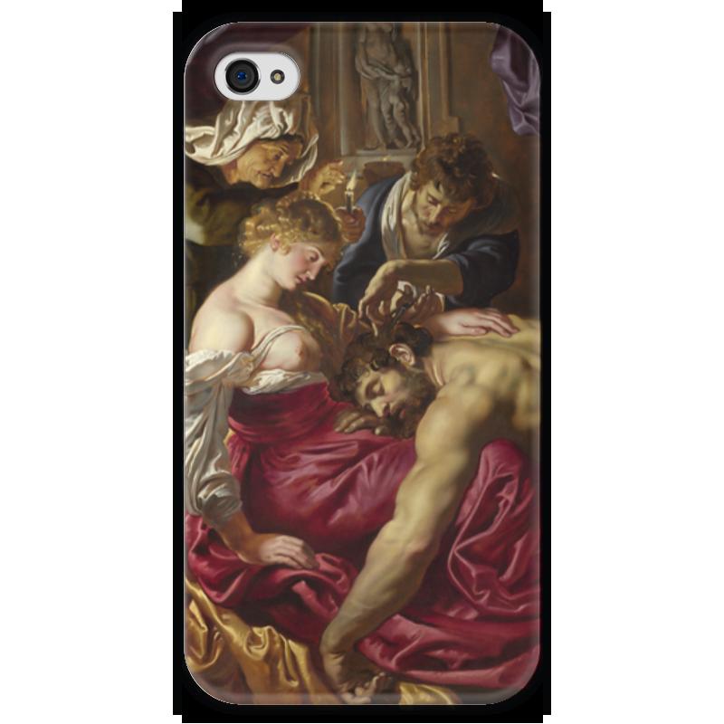 Чехол для iPhone 4 глянцевый, с полной запечаткой Printio Самсон и далила (картина питера пауля рубенса) самсон и далила