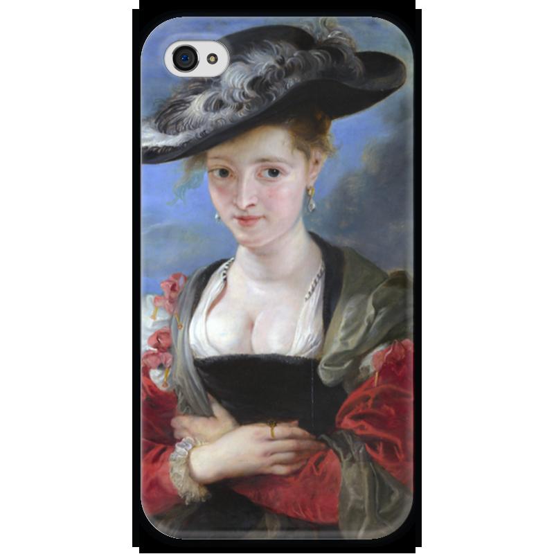 Чехол для iPhone 4 глянцевый, с полной запечаткой Printio Свояченица сусанна («соломенная шляпка») ваша шляпка берет