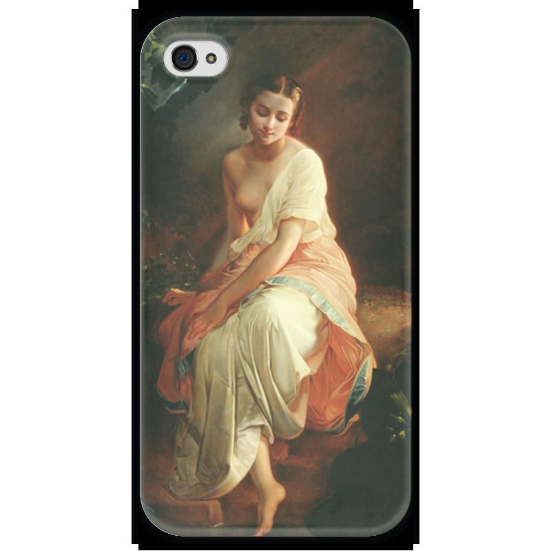 Чехол для iPhone 4 глянцевый, с полной запечаткой Printio Купальщица (андрей беллоли) андрей дышев русский закал
