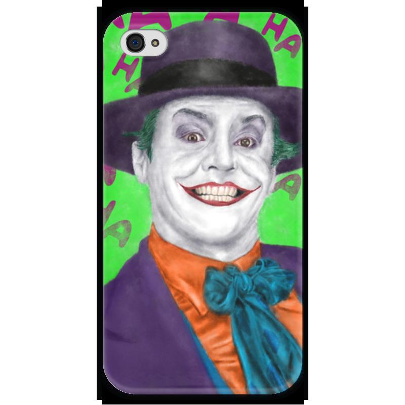 Чехол для iPhone 4 глянцевый, с полной запечаткой Printio Джокер чехол для iphone 4 глянцевый с полной запечаткой printio бэтмен