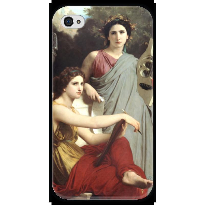 Чехол для iPhone 4 глянцевый, с полной запечаткой Printio Искусство и литература (вильям бугро) художественная литература для 9 лет