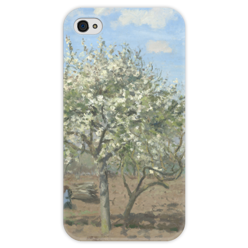 Чехол для iPhone 4 глянцевый, с полной запечаткой Printio Фруктовый сад в цвету чехол для iphone 6 глянцевый printio бабушкин сад