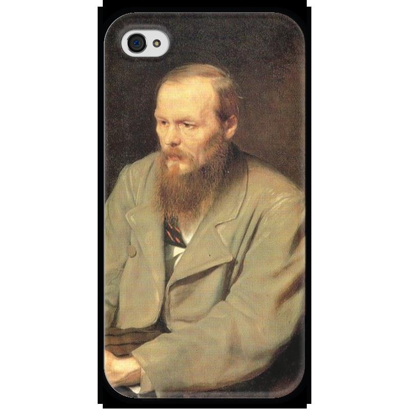 Чехол для iPhone 4 глянцевый, с полной запечаткой Printio Достоевский чехол для iphone 4 глянцевый с полной запечаткой printio supreme