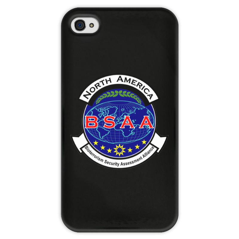 Чехол для iPhone 4 г��янцевый, с полной запечаткой Printio Resident evil. bsaa resident evil 5 русский язык sony playstation 4 ролевая боевик