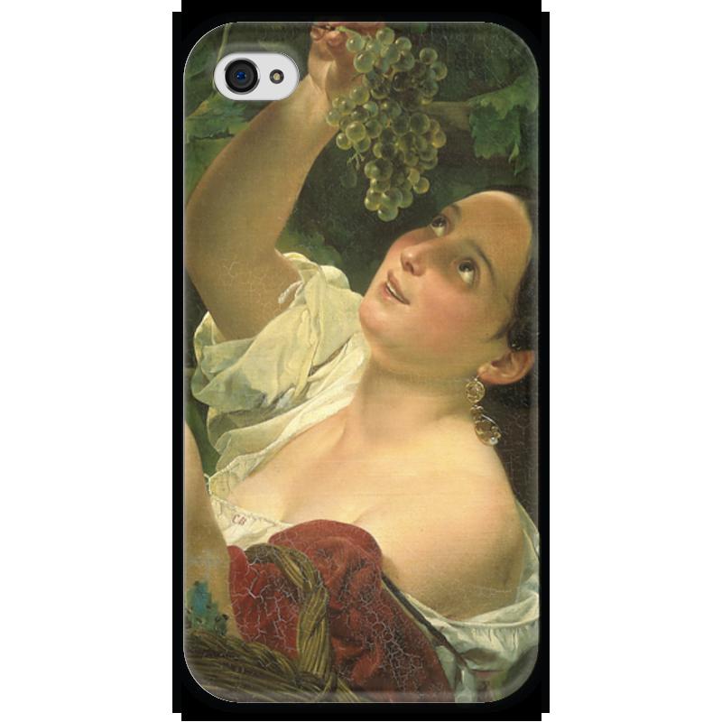Чехол для iPhone 4 глянцевый, с полной запечаткой Printio Итальянский полдень (картина карла брюллова) петр орловец приключения карла фрейберга