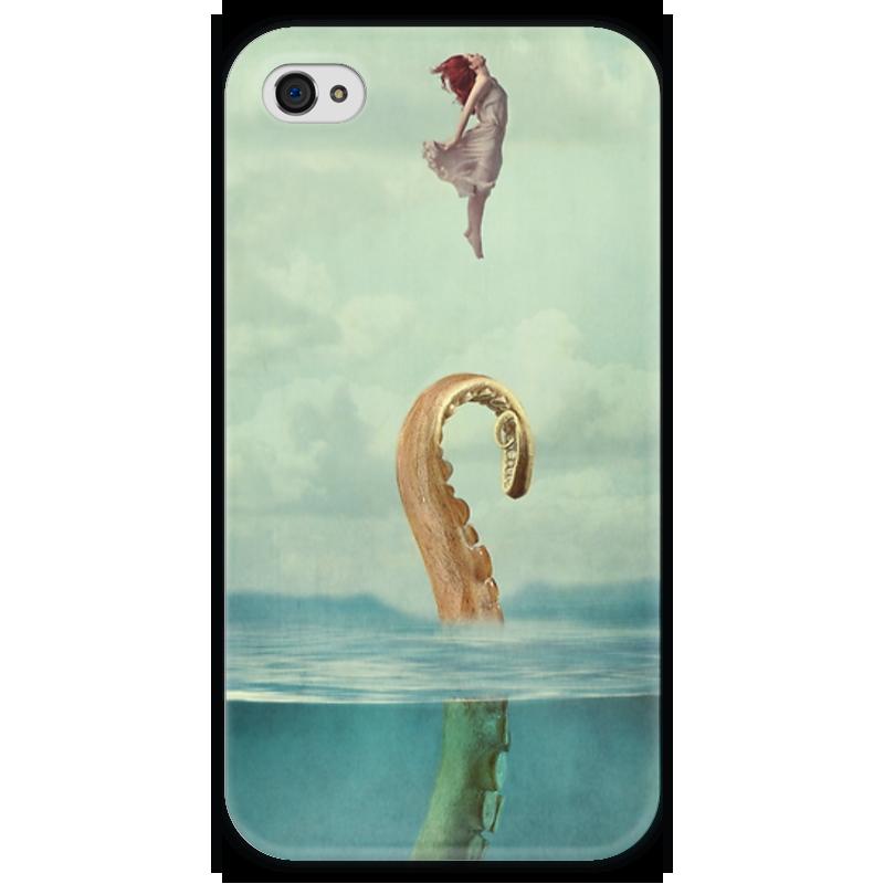 Чехол для iPhone 4 глянцевый, с полной запечаткой Printio Sprut аргут а 25 new