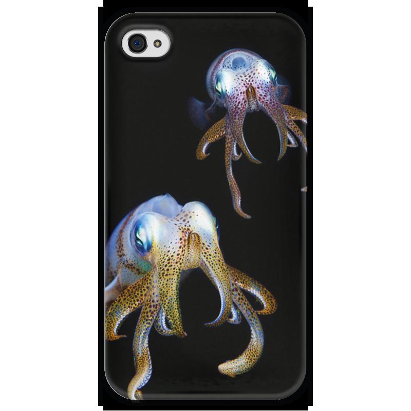 Чехол для iPhone 4 глянцевый, с полной запечаткой Printio Кальмары чехол для iphone 4 глянцевый с полной запечаткой printio челси
