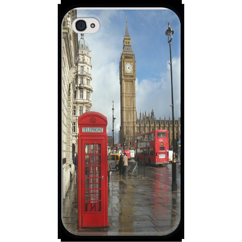 Чехол для iPhone 4 глянцевый, с полной запечаткой Printio Лондон стоимость